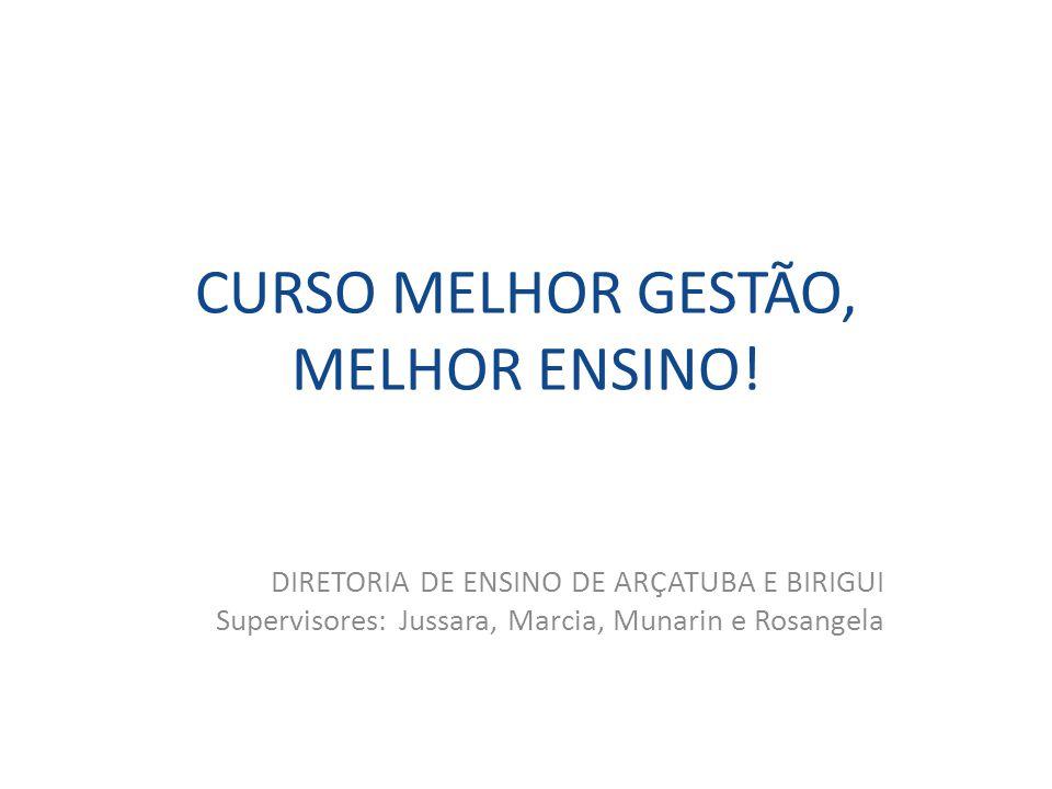 CURSO MELHOR GESTÃO, MELHOR ENSINO!