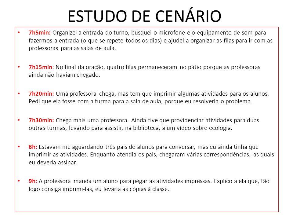 ESTUDO DE CENÁRIO