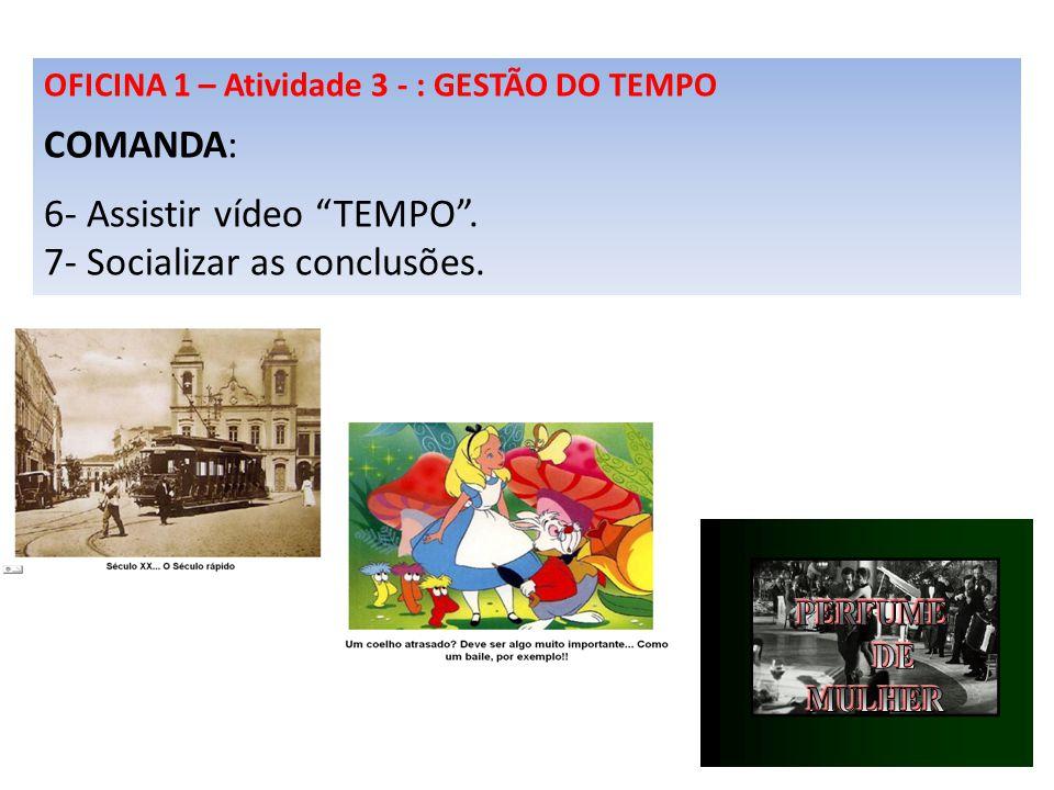 6- Assistir vídeo TEMPO . 7- Socializar as conclusões.
