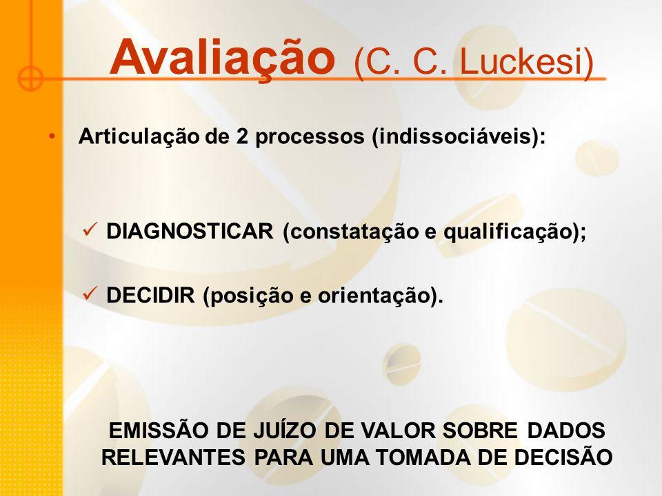 Avaliação (C. C. Luckesi)