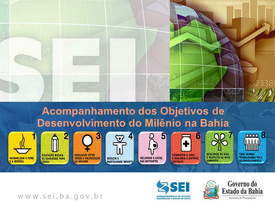 Acompanhamento dos Objetivos de Desenvolvimento do Milênio na Bahia
