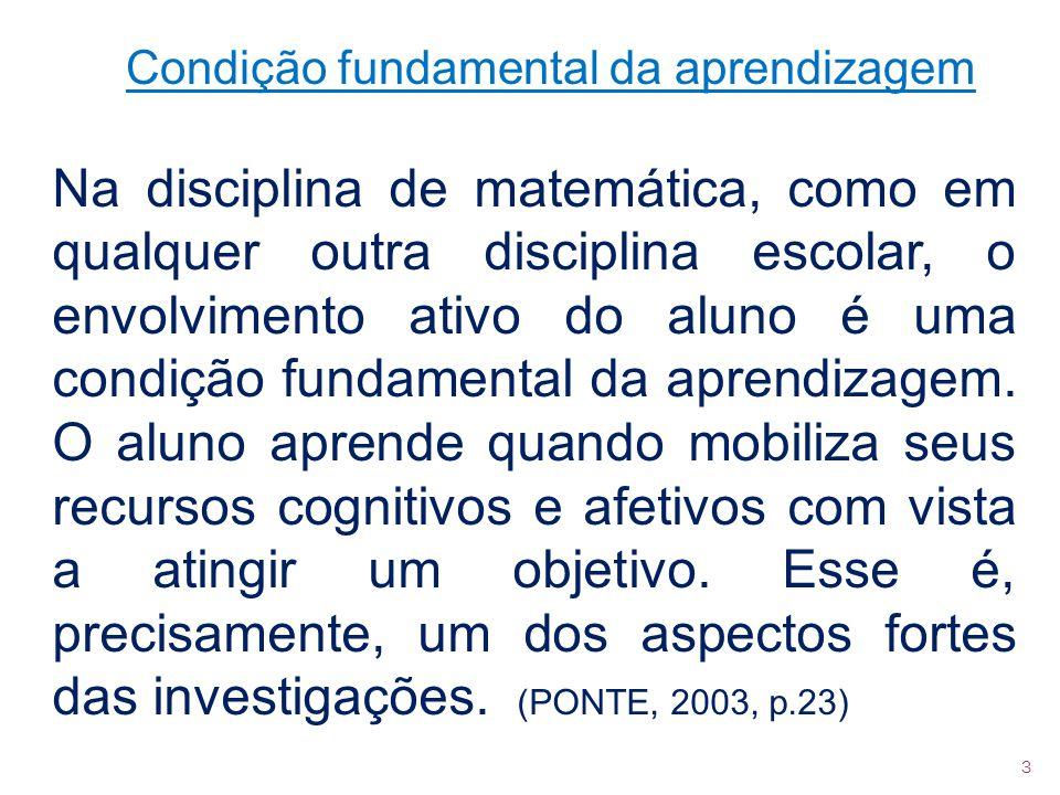 Condição fundamental da aprendizagem