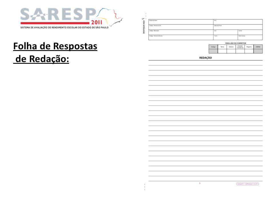 Folha de Respostas de Redação:
