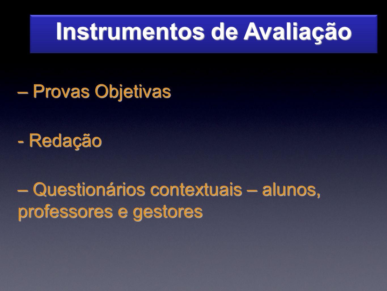 Instrumentos de Avaliação