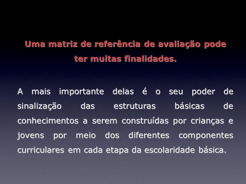 Uma matriz de referência de avaliação pode ter muitas finalidades.