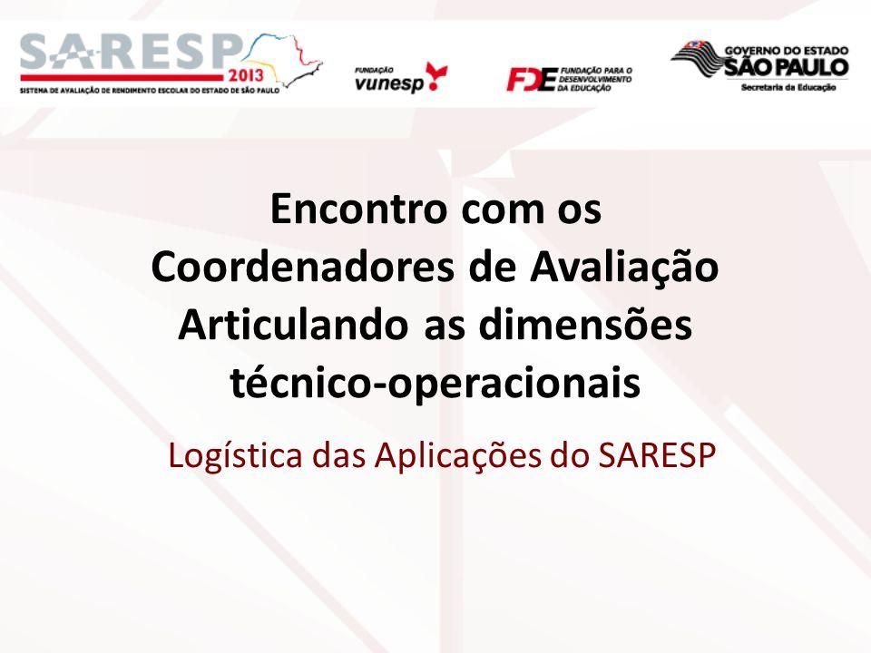 Logística das Aplicações do SARESP