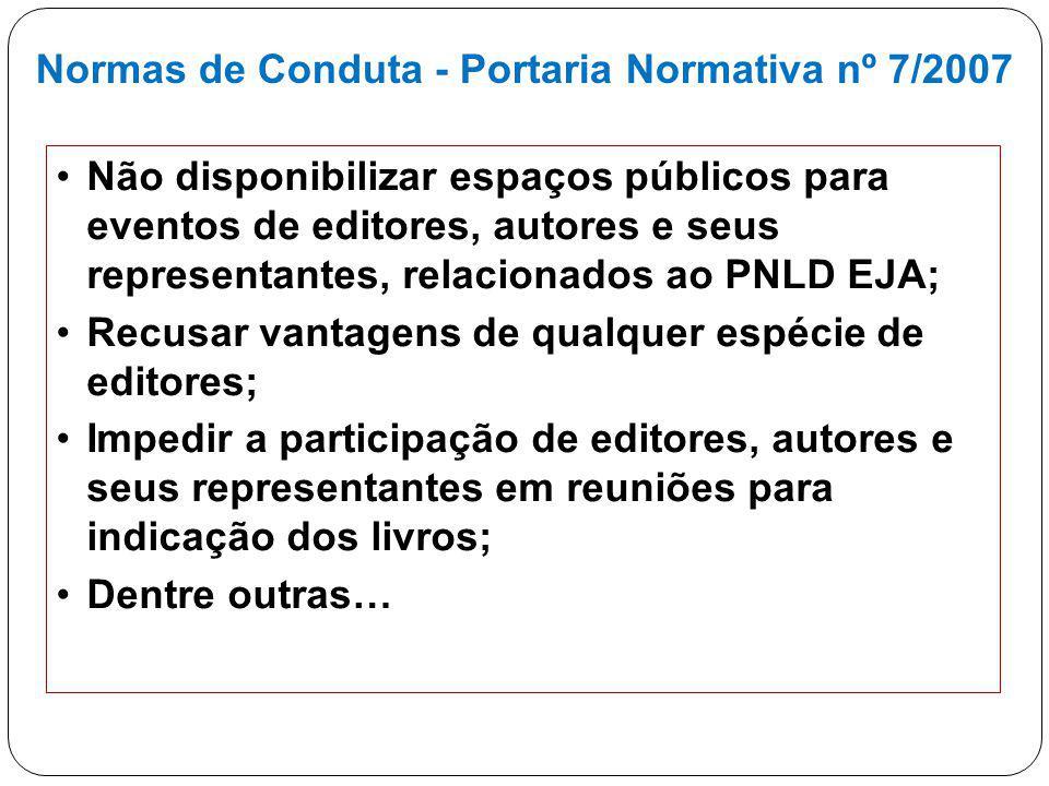 Normas de Conduta - Portaria Normativa nº 7/2007