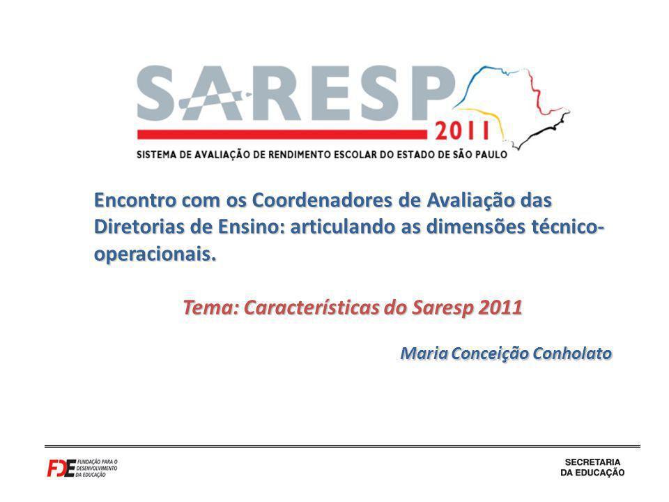Tema: Características do Saresp 2011