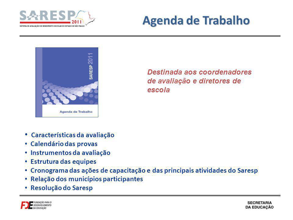Agenda de Trabalho Características da avaliação