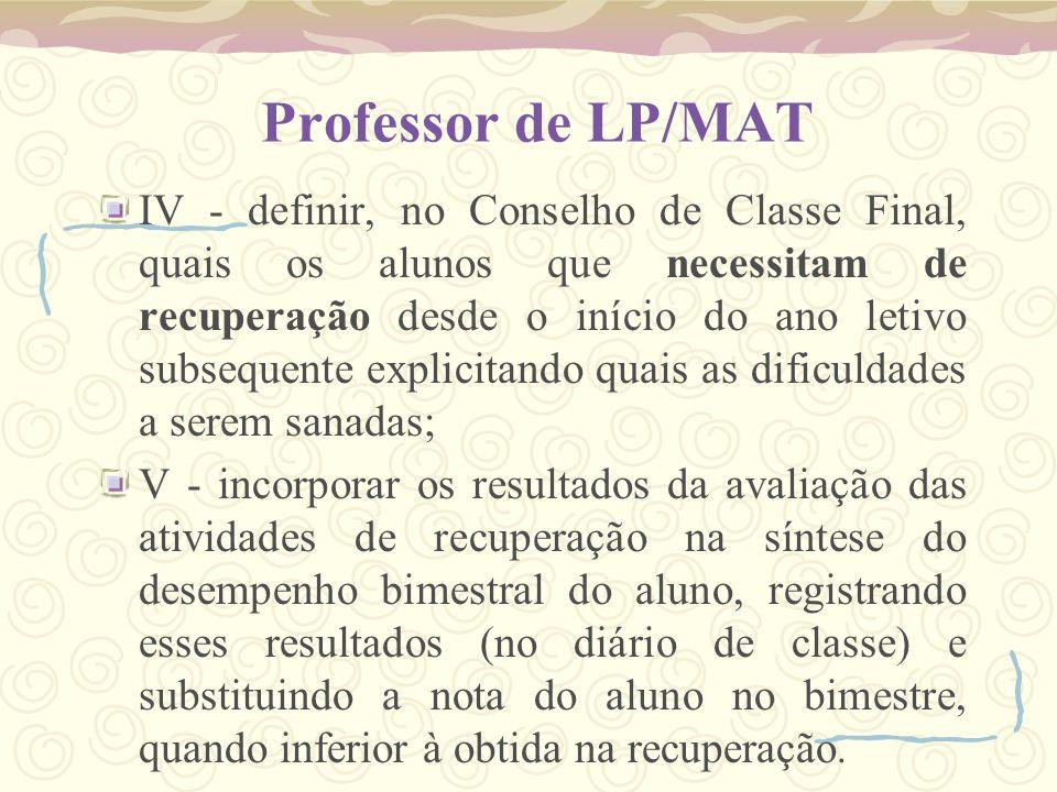 Professor de LP/MAT