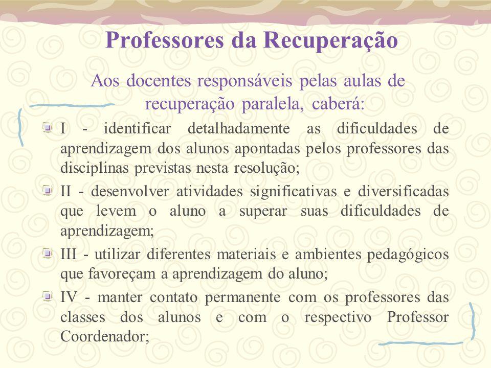 Professores da Recuperação