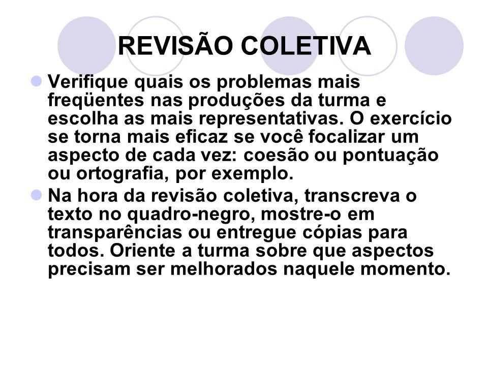 REVISÃO COLETIVA