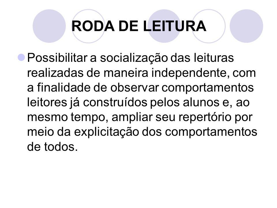 RODA DE LEITURA