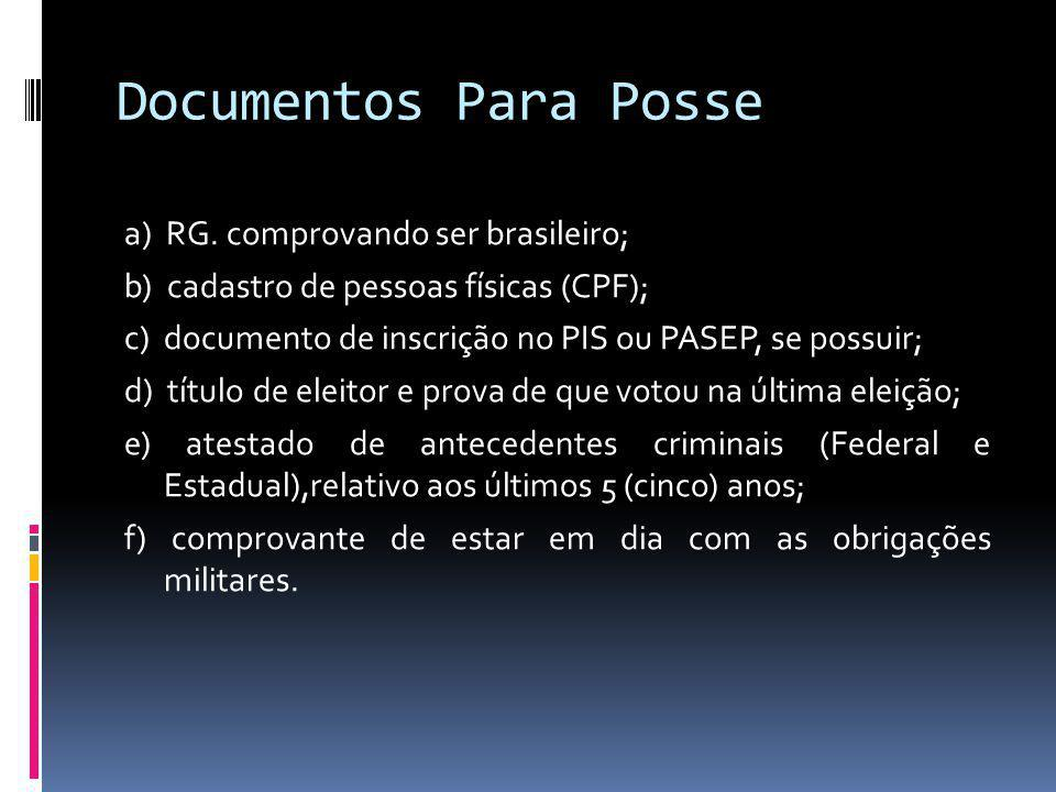 Documentos Para Posse