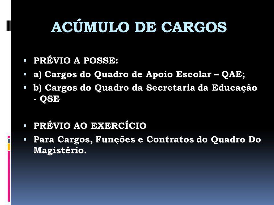 ACÚMULO DE CARGOS PRÉVIO A POSSE: