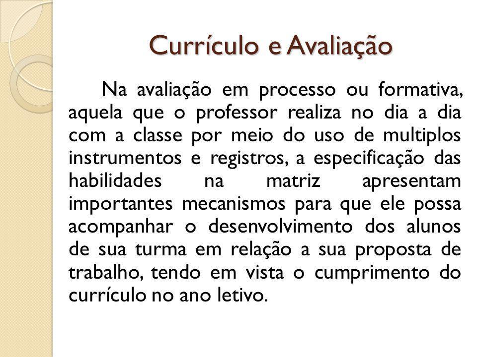 Currículo e Avaliação