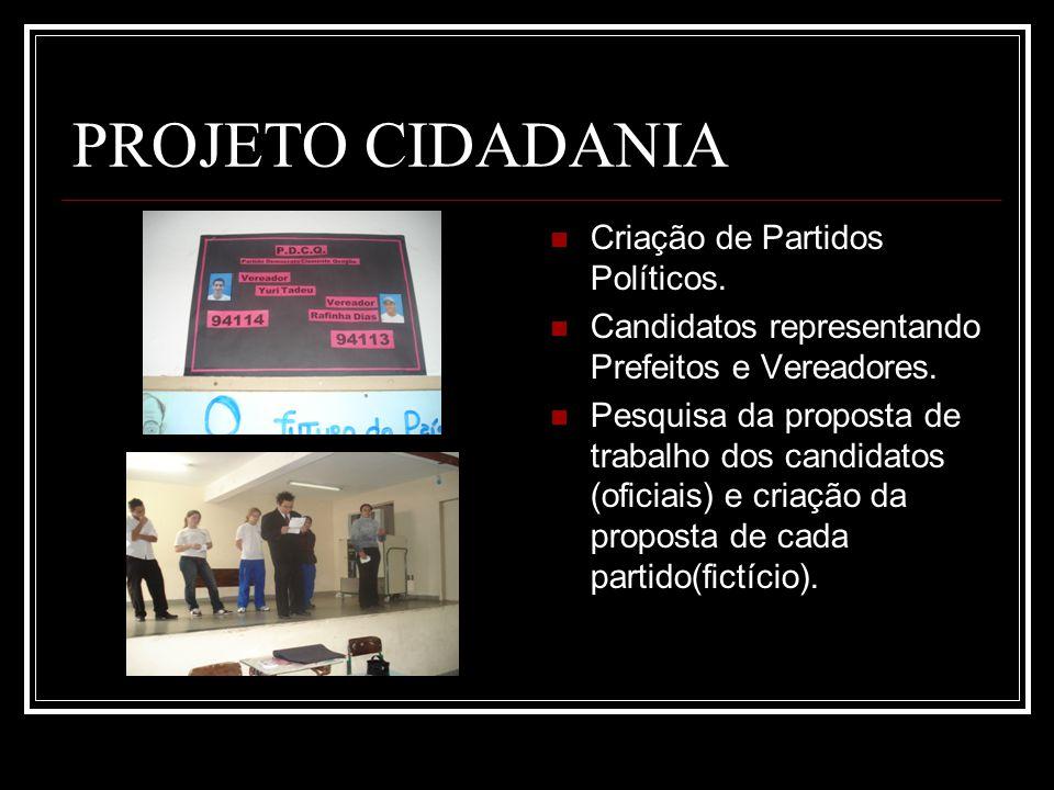 PROJETO CIDADANIA Criação de Partidos Políticos.