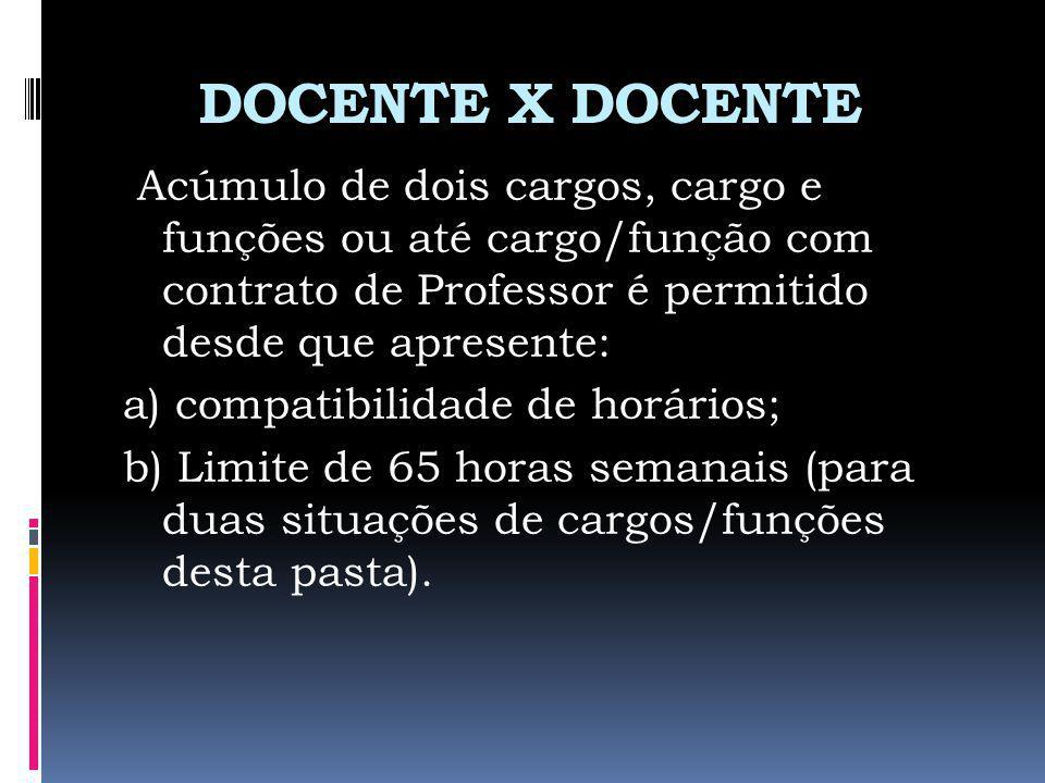 DOCENTE X DOCENTE