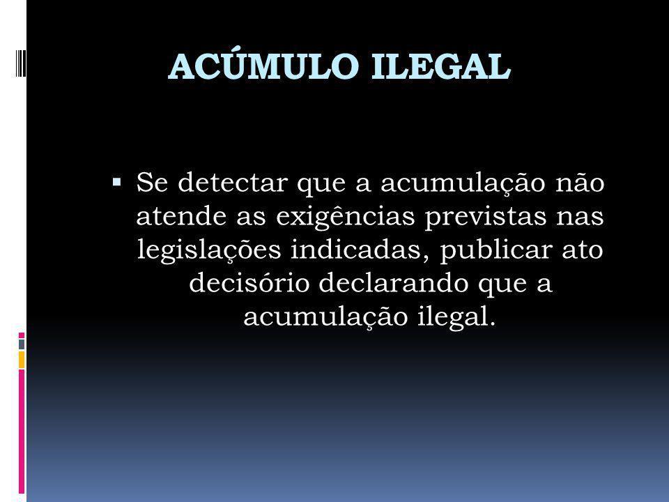 ACÚMULO ILEGAL
