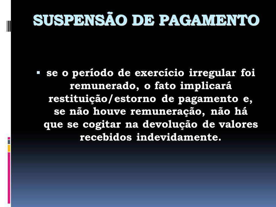 SUSPENSÃO DE PAGAMENTO