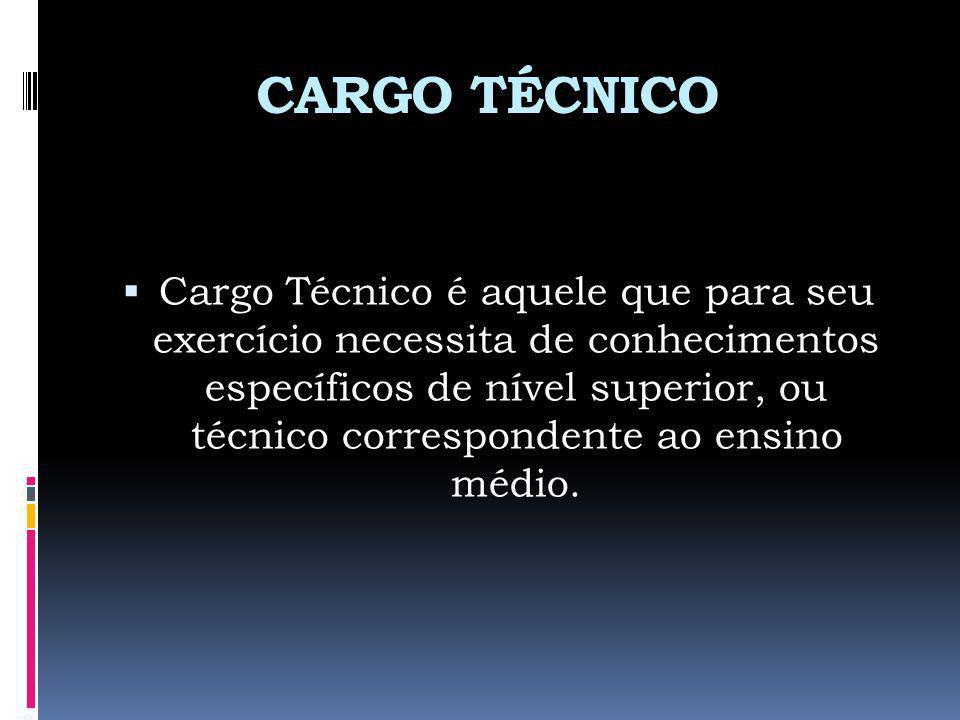 CARGO TÉCNICO