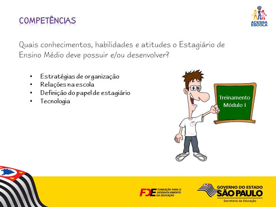 competências Quais conhecimentos, habilidades e atitudes o Estagiário de Ensino Médio deve possuir e/ou desenvolver