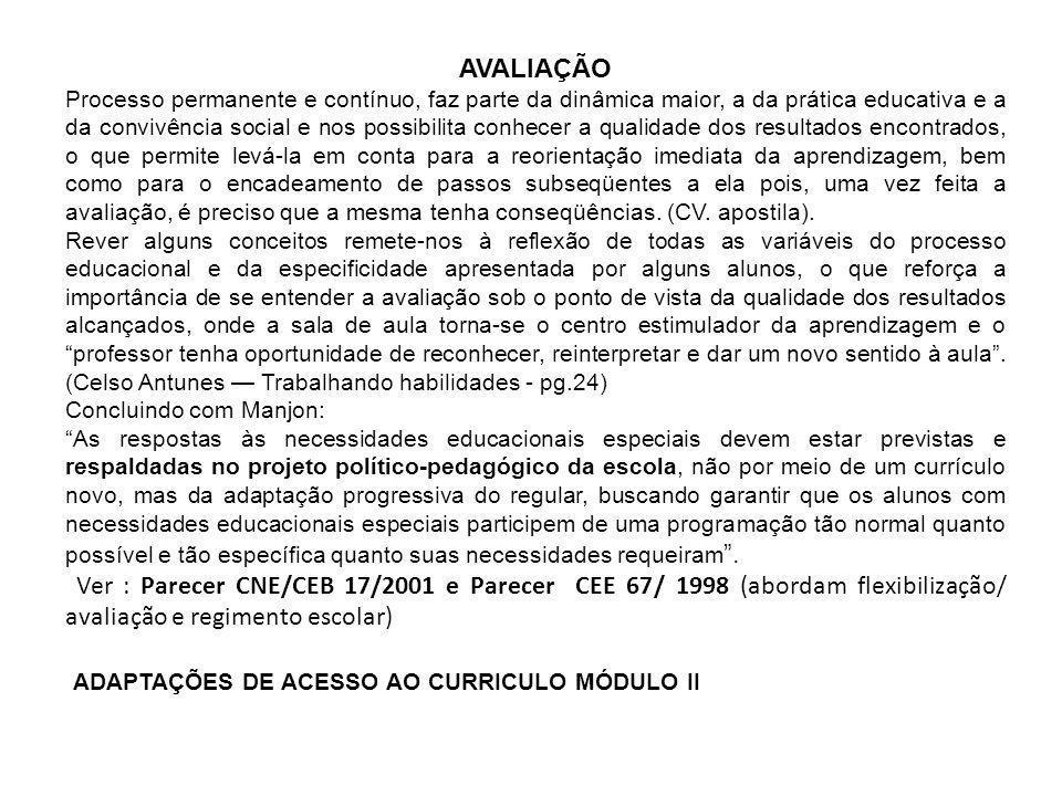 ADAPTAÇÕES DE ACESSO AO CURRICULO MÓDULO II