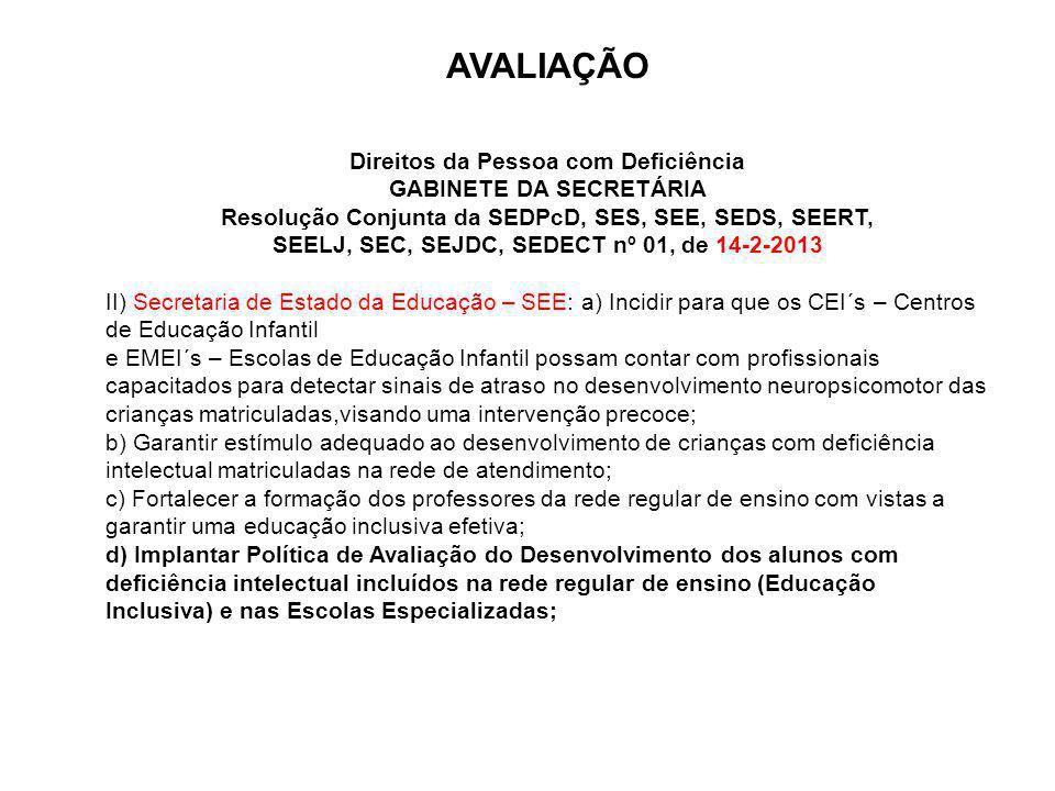 SEELJ, SEC, SEJDC, SEDECT nº 01, de 14-2-2013