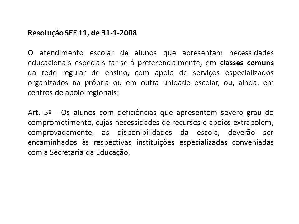 Resolução SEE 11, de 31-1-2008