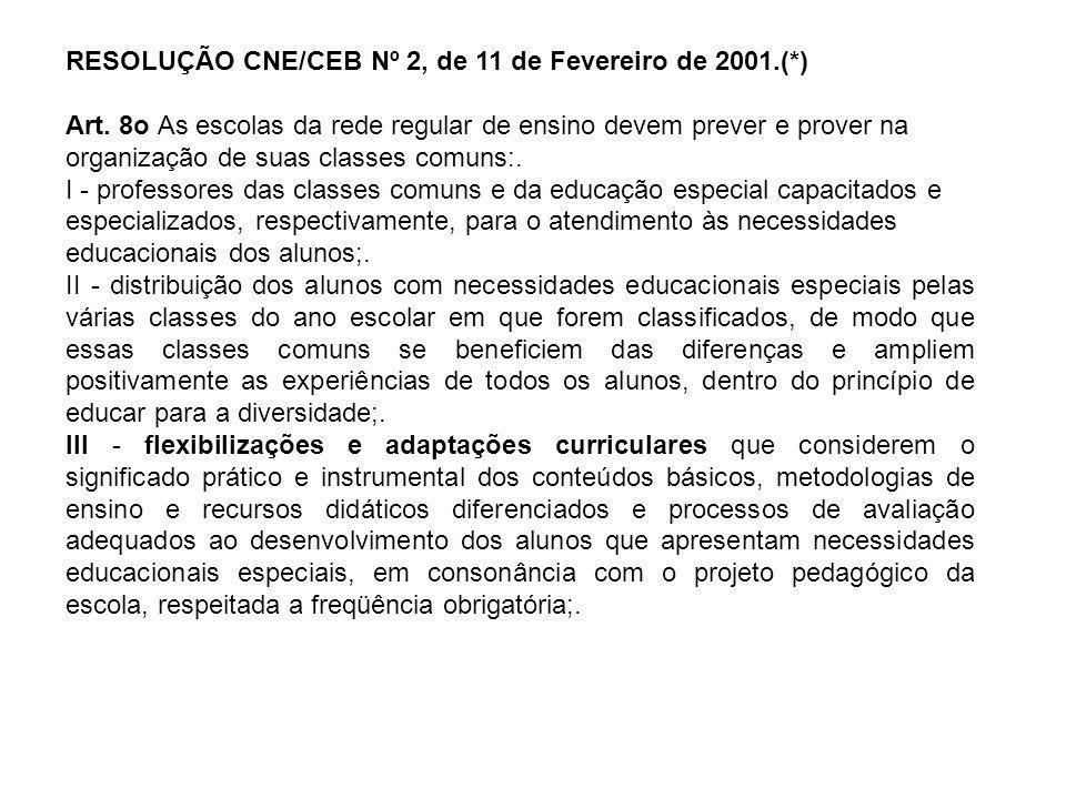 RESOLUÇÃO CNE/CEB Nº 2, de 11 de Fevereiro de 2001.(*)