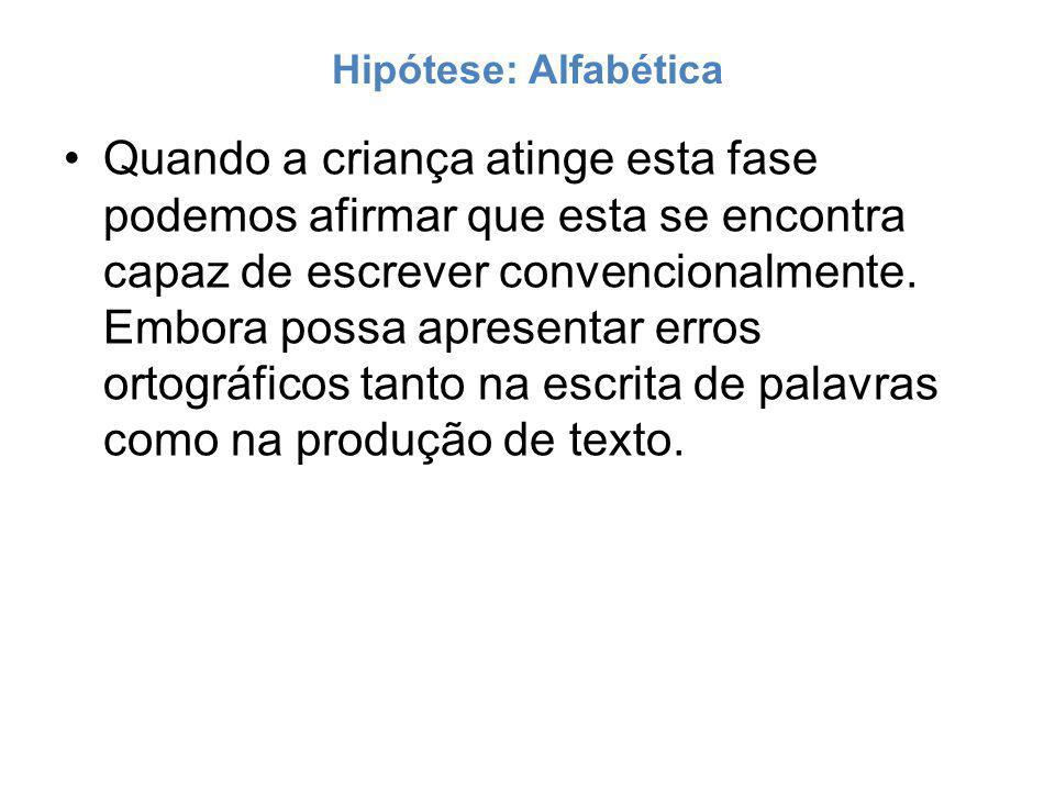 Hipótese: Alfabética