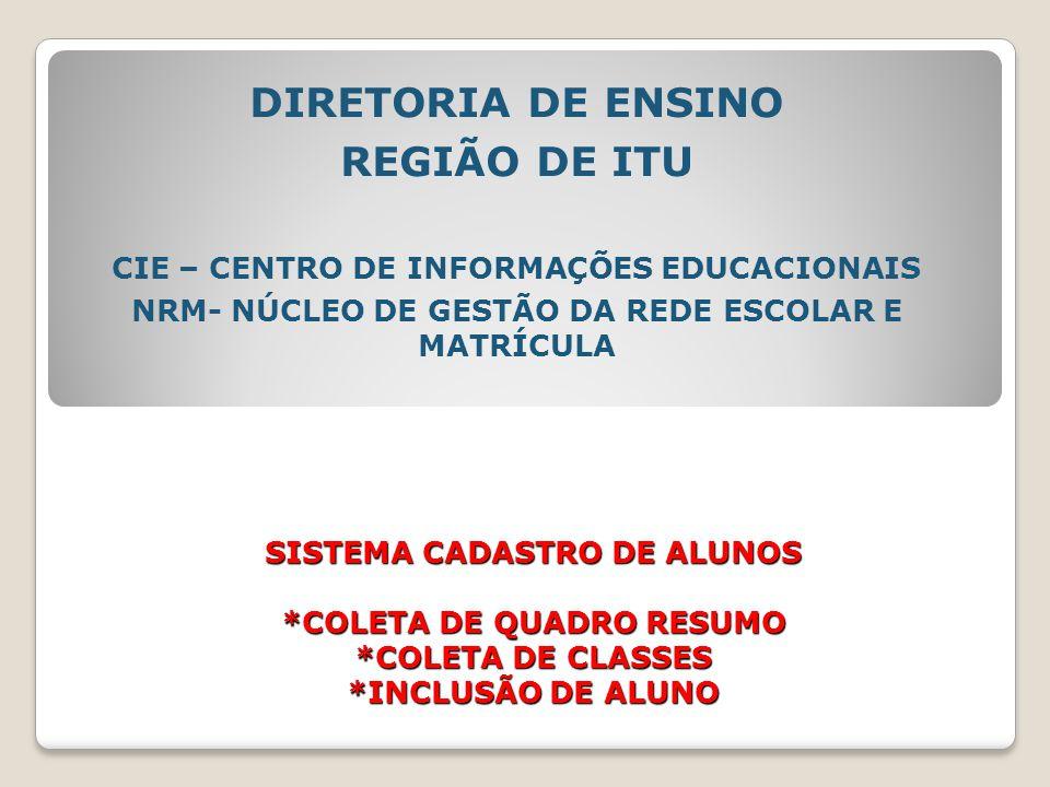 DIRETORIA DE ENSINO REGIÃO DE ITU