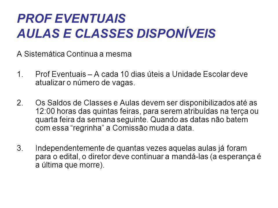 PROF EVENTUAIS AULAS E CLASSES DISPONÍVEIS