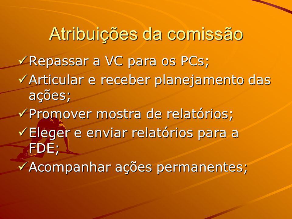 Atribuições da comissão