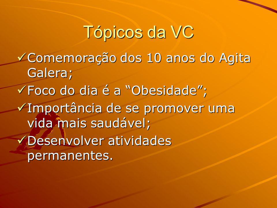 Tópicos da VC Comemoração dos 10 anos do Agita Galera;