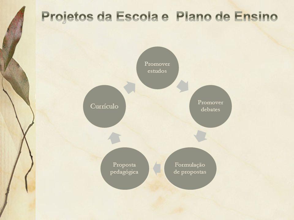 Projetos da Escola e Plano de Ensino