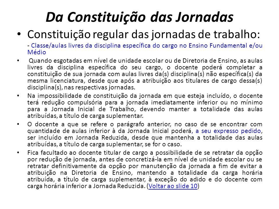 Da Constituição das Jornadas