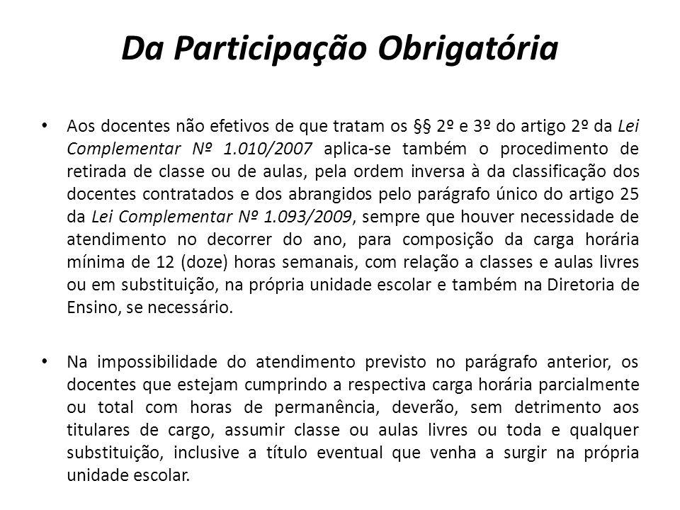 Da Participação Obrigatória