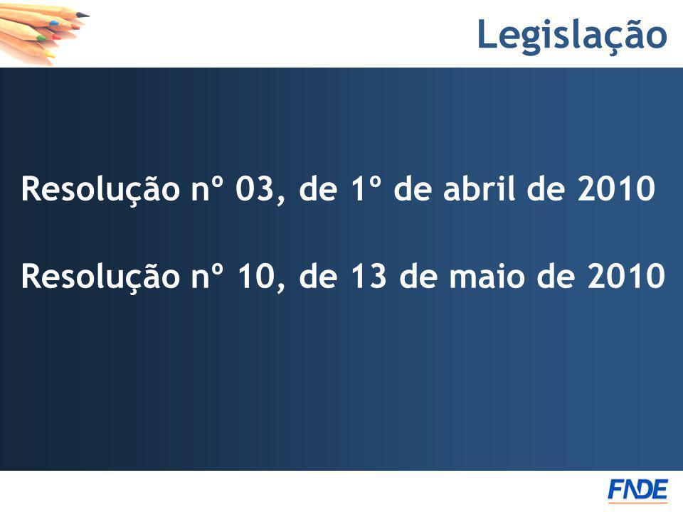 Legislação Resolução nº 03, de 1º de abril de 2010