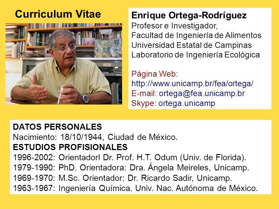 Curriculum Vitae Enrique Ortega-Rodríguez DATOS PERSONALES