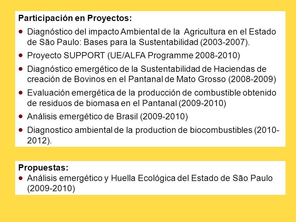 Participación en Proyectos: