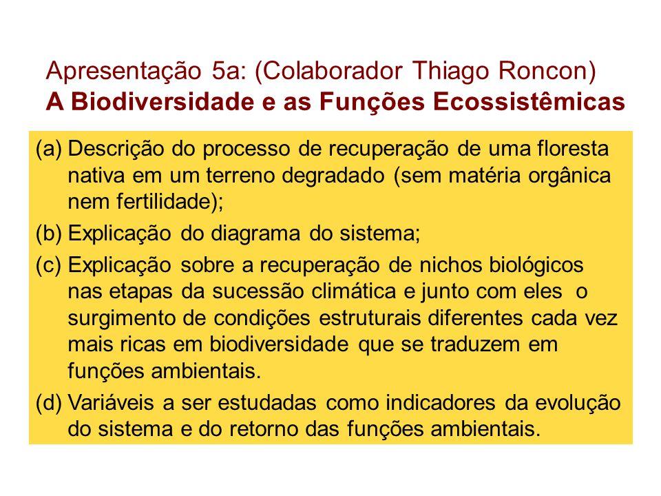 Apresentação 5a: (Colaborador Thiago Roncon)