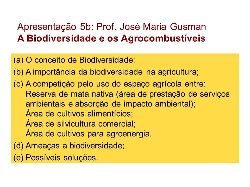 Apresentação 5b: Prof. José Maria Gusman