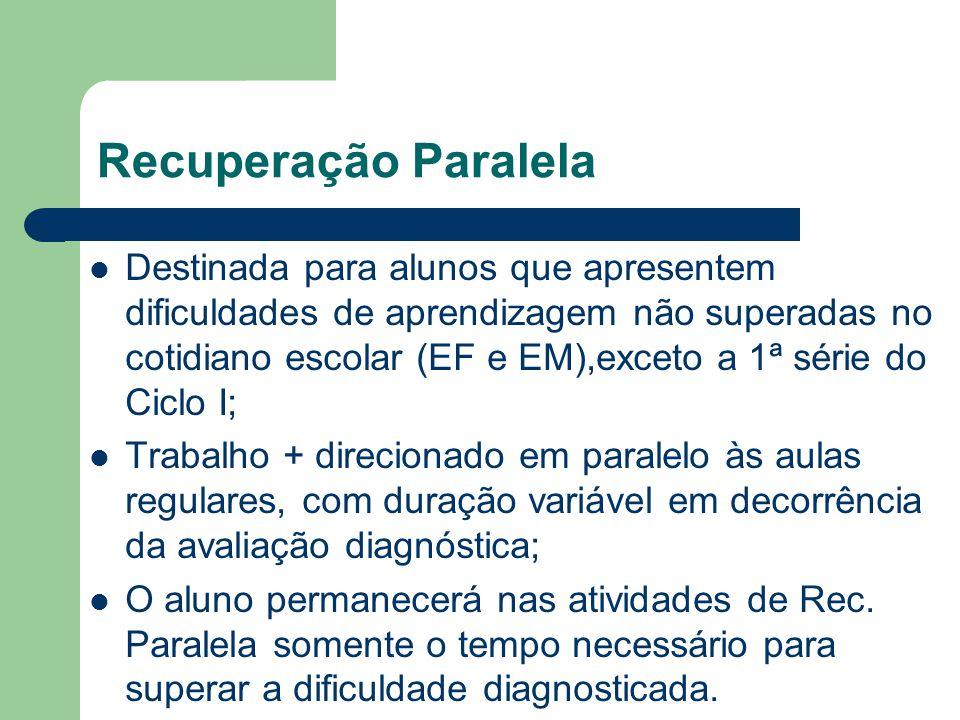 Recuperação Paralela