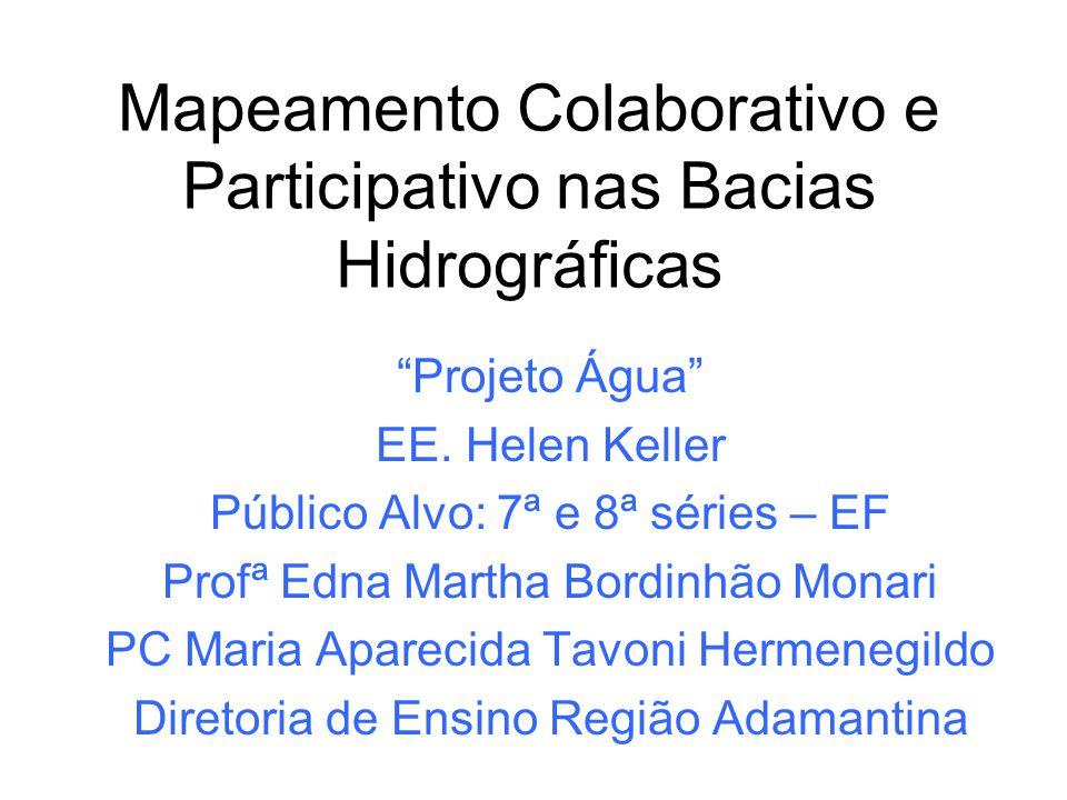 Mapeamento Colaborativo e Participativo nas Bacias Hidrográficas
