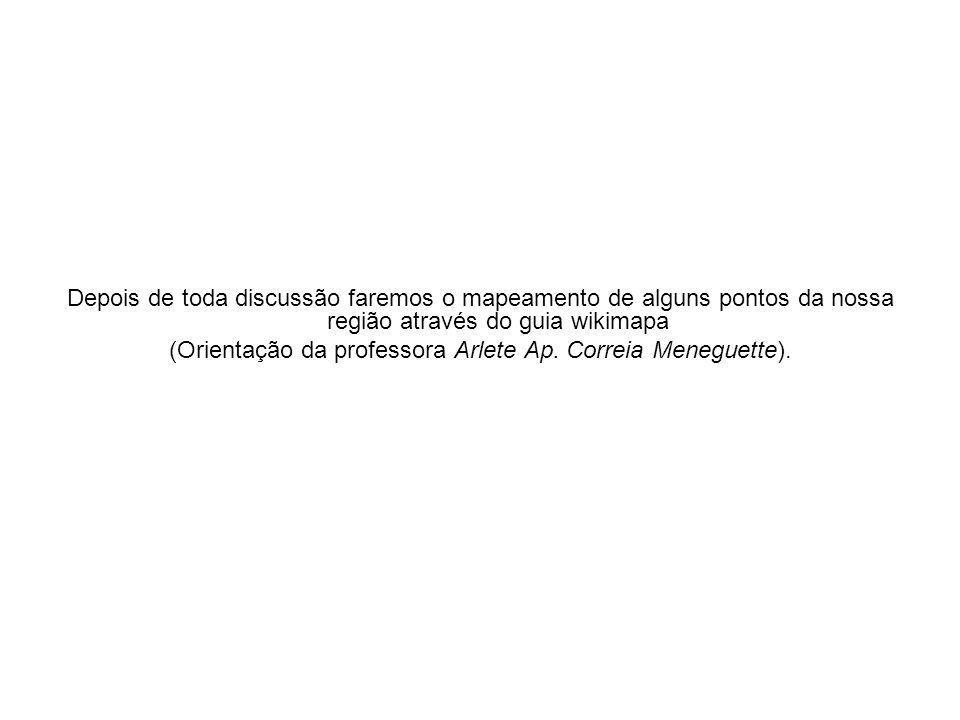 (Orientação da professora Arlete Ap. Correia Meneguette).