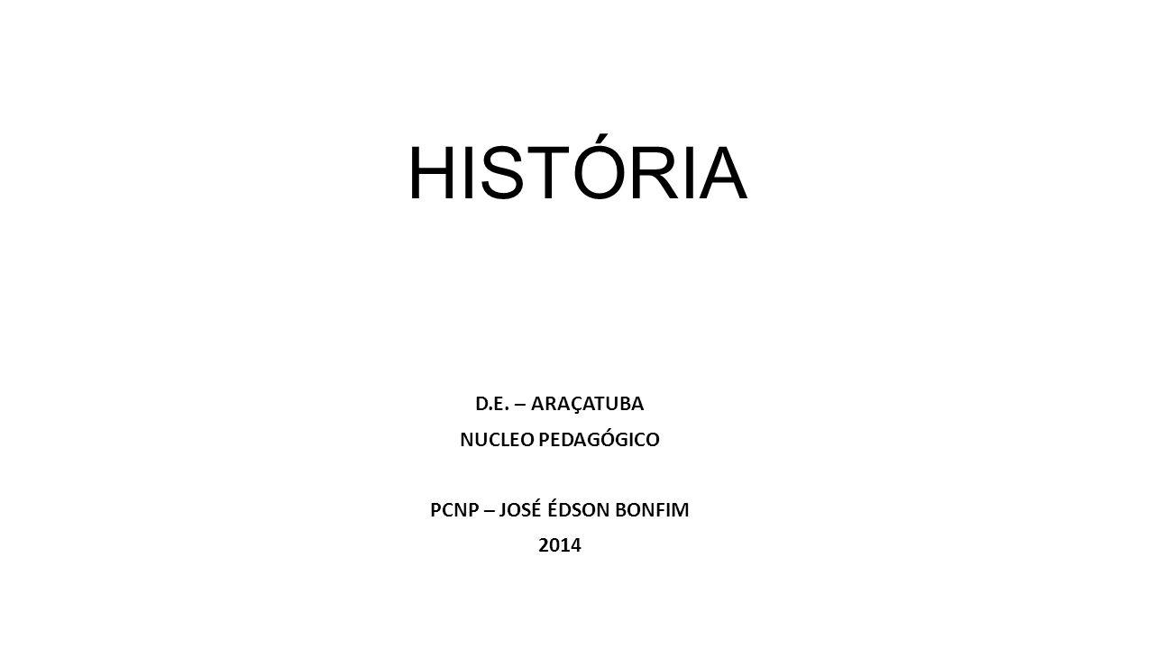 D.E. – ARAÇATUBA NUCLEO PEDAGÓGICO PCNP – JOSÉ ÉDSON BONFIM 2014