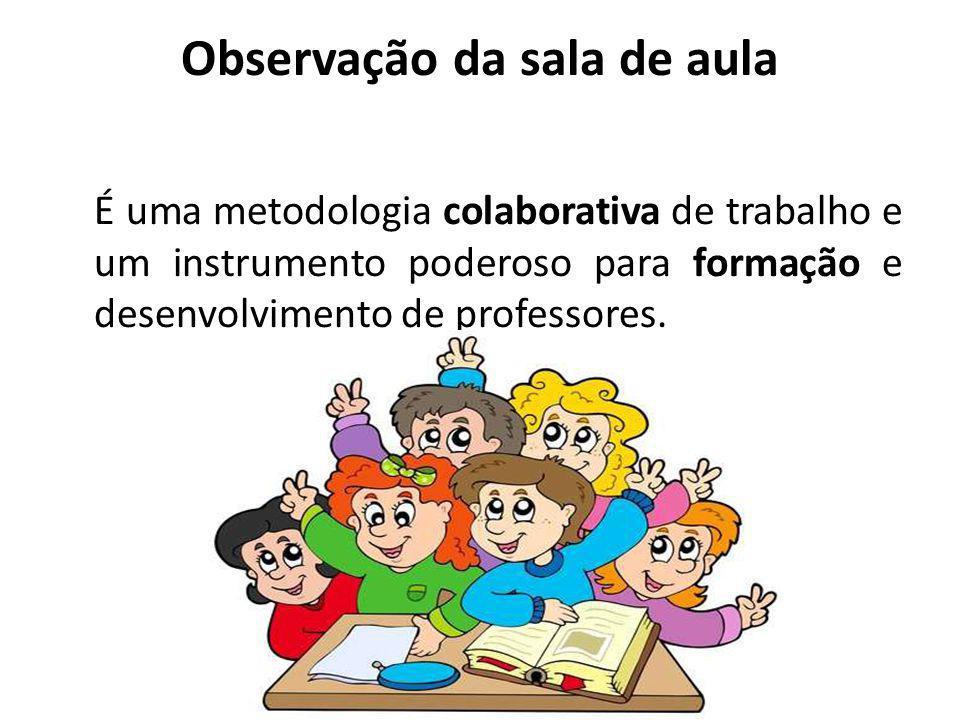 Observação da sala de aula