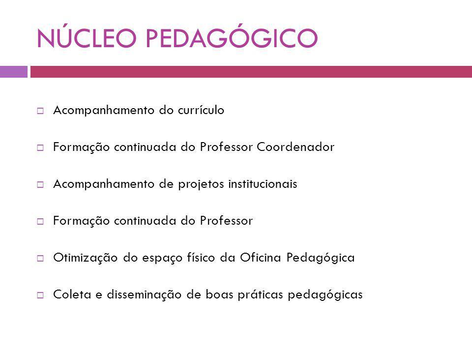 NÚCLEO PEDAGÓGICO Acompanhamento do currículo