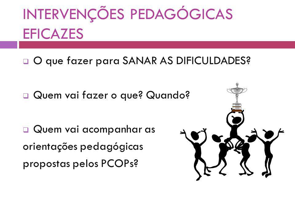 INTERVENÇÕES PEDAGÓGICAS EFICAZES